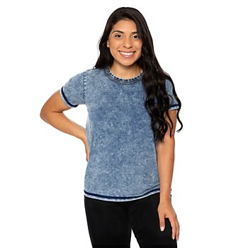 Fate Enzyme Wash Short Sleeve Top