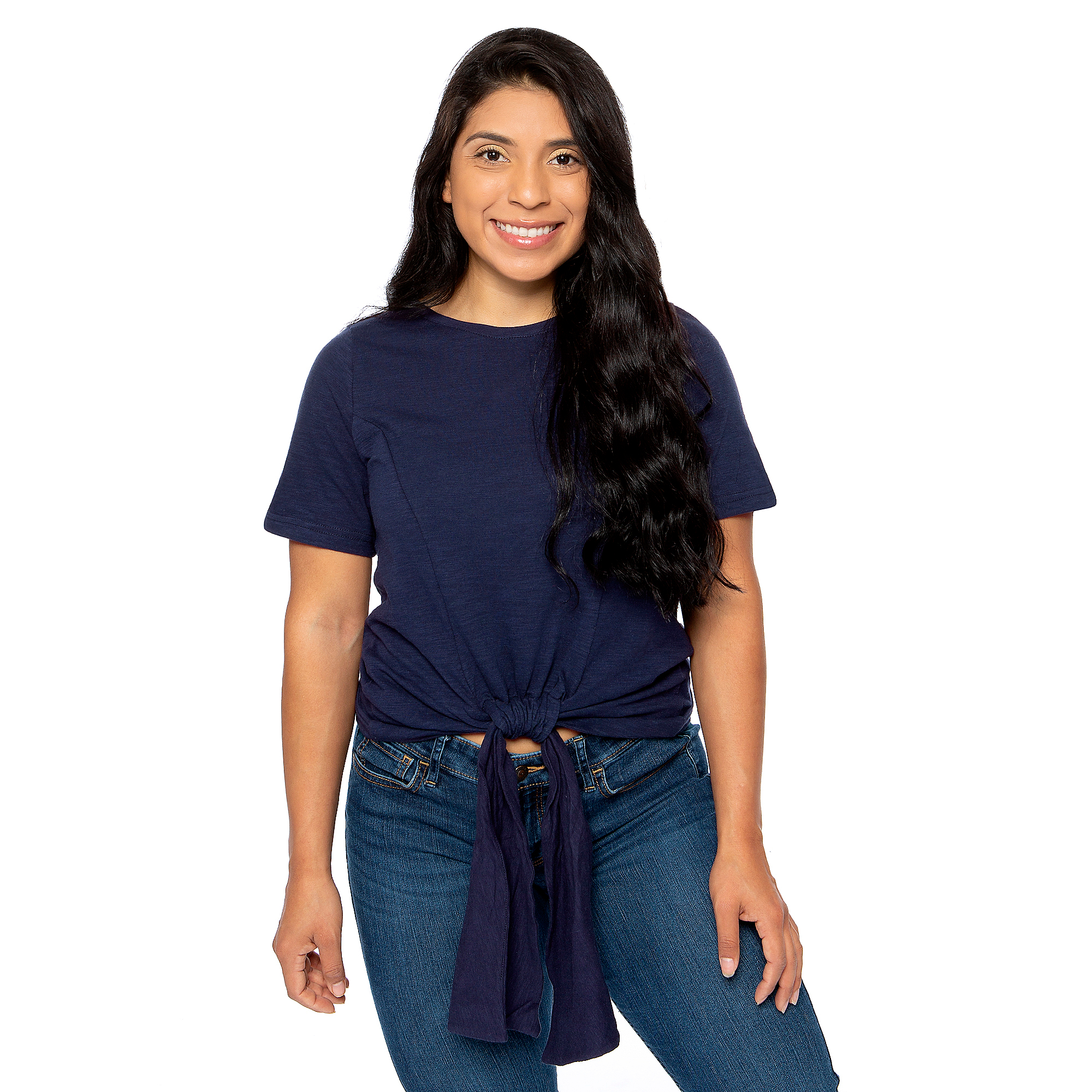 Studio Fate Tie Front Crop Top