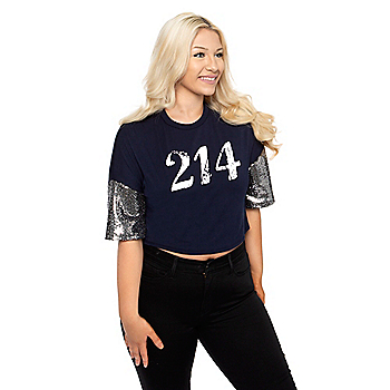 Studio Young Heart 214 Sequin Sleeve Top