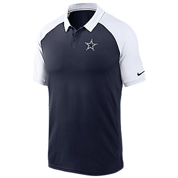 Dallas Cowboys Nike Mens Logo Raglan Polo