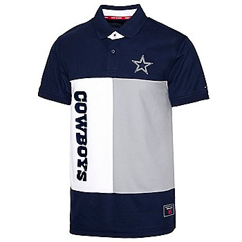 Dallas Cowboys Tommy Hilfiger Mens Rectangle Color Block Polo