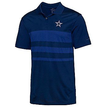 Dallas Cowboys Nike Mens Dri-FIT Stripe Vapor Golf Polo