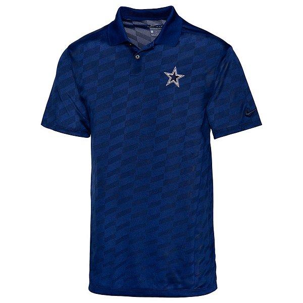 Dallas Cowboys Nike Mens Dri-FIT Jacquard Wing Golf Polo
