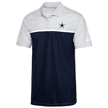 Dallas Cowboys Nike Mens Dri-FIT Colorblock Victory Golf Polo
