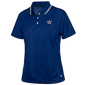 Dallas Cowboys Nike Womens Dri-FIT Victory Short Sleeve Golf Polo
