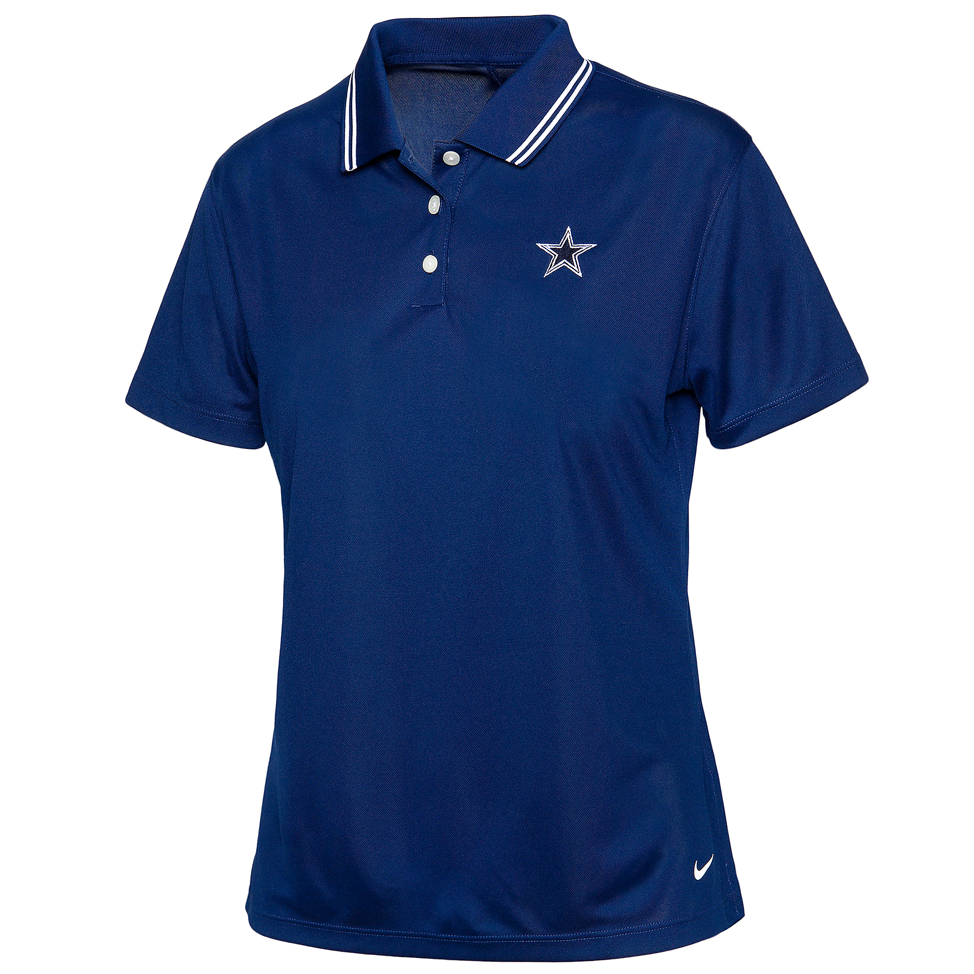 Dallas Cowboys Nike Dri-FIT Womens Victory Short Sleeve Golf Polo