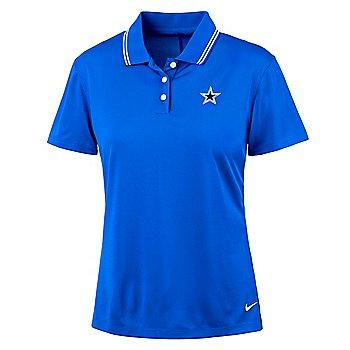 Dallas Cowboys Nike Dri-FIT Womens Victory Short Sleeve Golf Polo