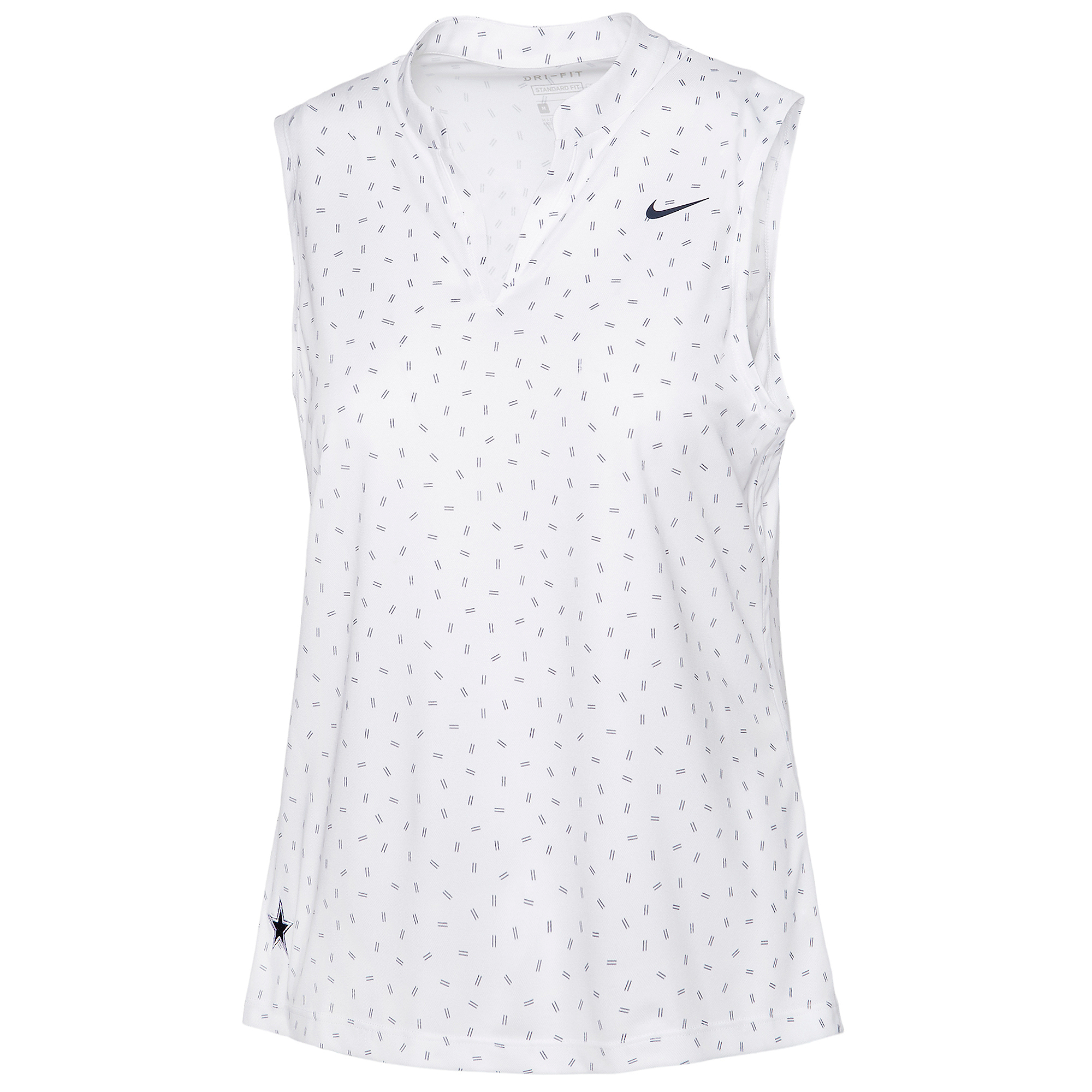 Dallas Cowboys Nike Dri-FIT Womens Victory Golf Polo Tank