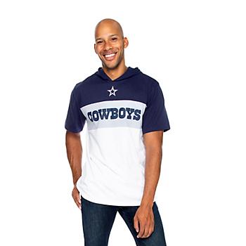 Dallas Cowboys Mens Hawker Short Sleeve Hooded T-Shirt