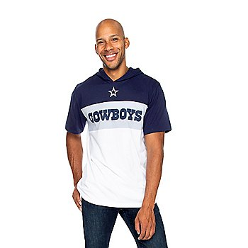 Dallas Cowboys Mens Hawker Short Sleeve Hooded T-Shirt