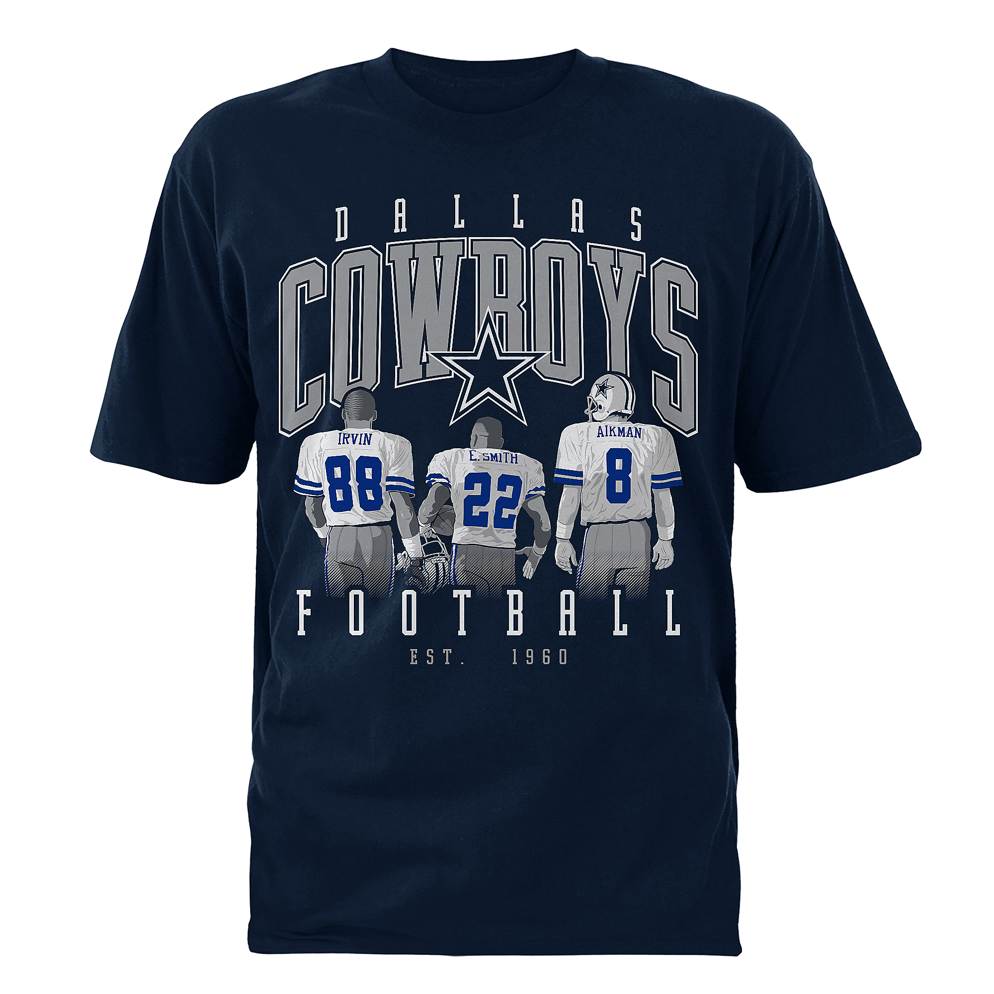 Dallas Cowboys Mens Roan Triplets Short Sleeve T-Shirt