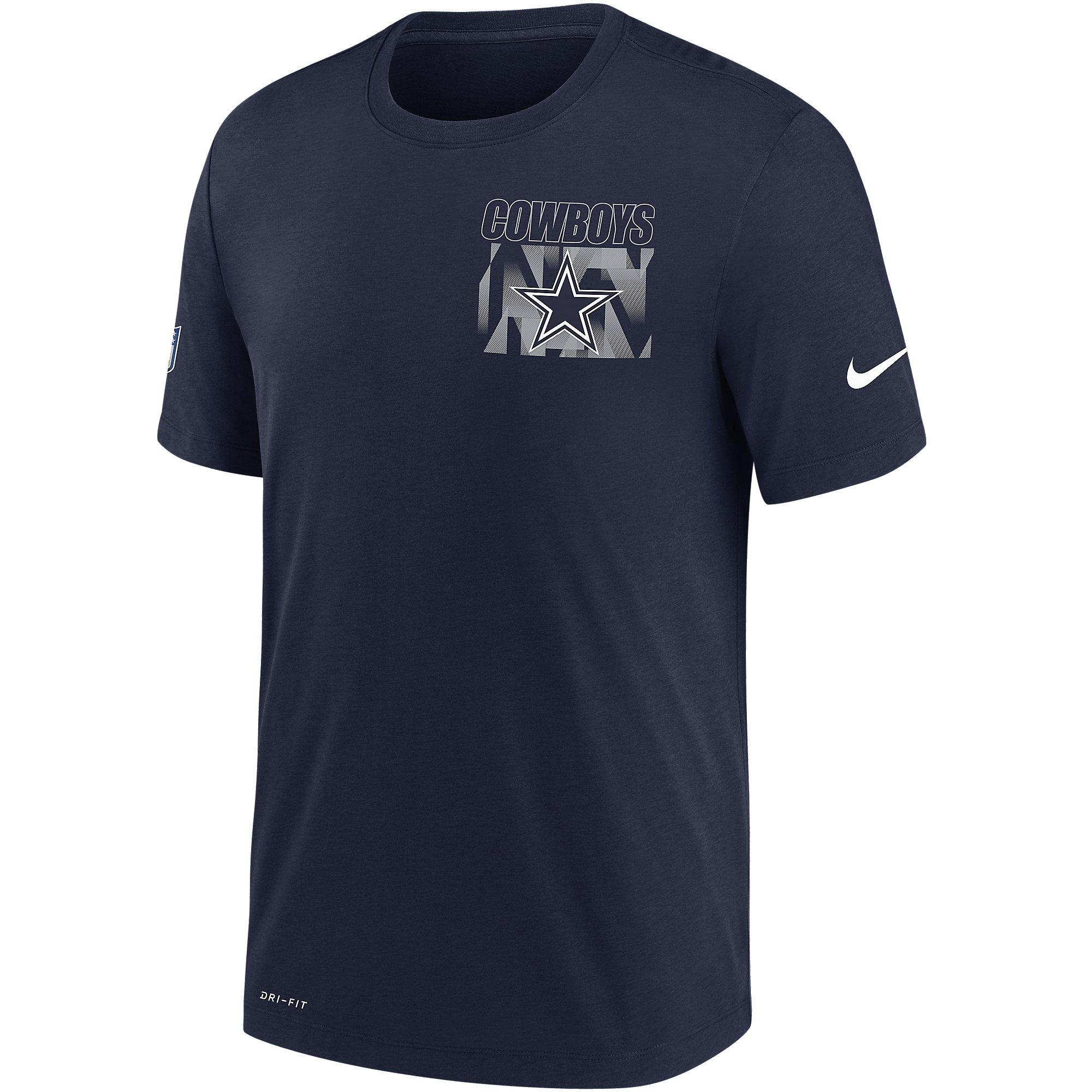Dallas Cowboys Nike Dri-FIT Mens Playbook Team Logo Facility T-Shirt