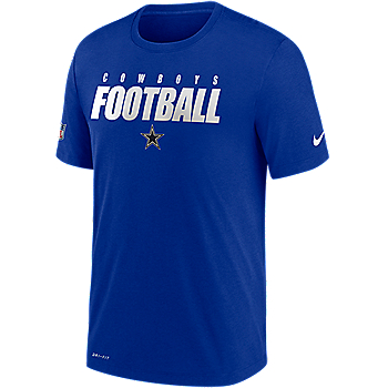 Dallas Cowboys Nike Dri-FIT Mens Football All Short Sleeve T-Shirt