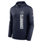 Dallas Cowboys Nike Mens Team Name Stack Long Sleeve Hooded T-Shirt