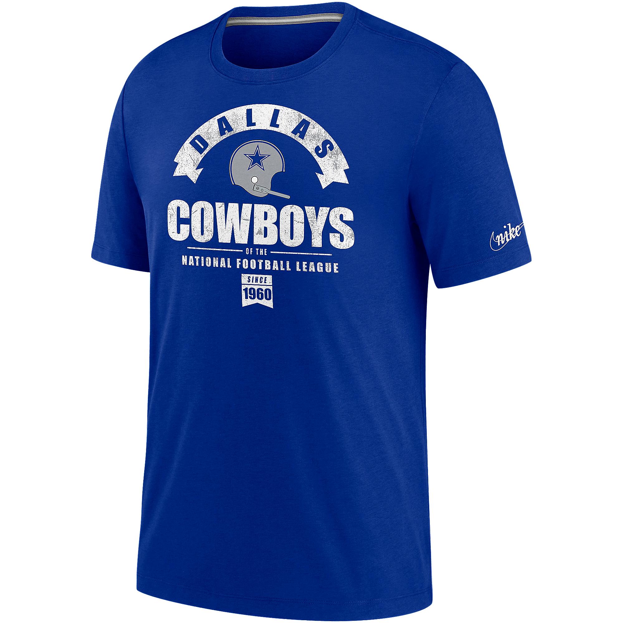 Dallas Cowboys Nike Mens Historic Tri-Blend Short Sleeve T-Shirt