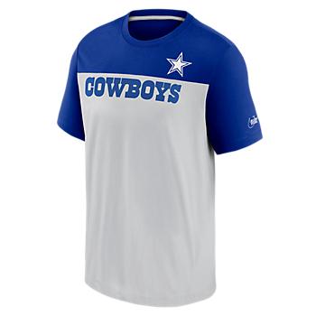 Dallas Cowboys Nike Mens Wordmark Historic Colorblock T-Shirt
