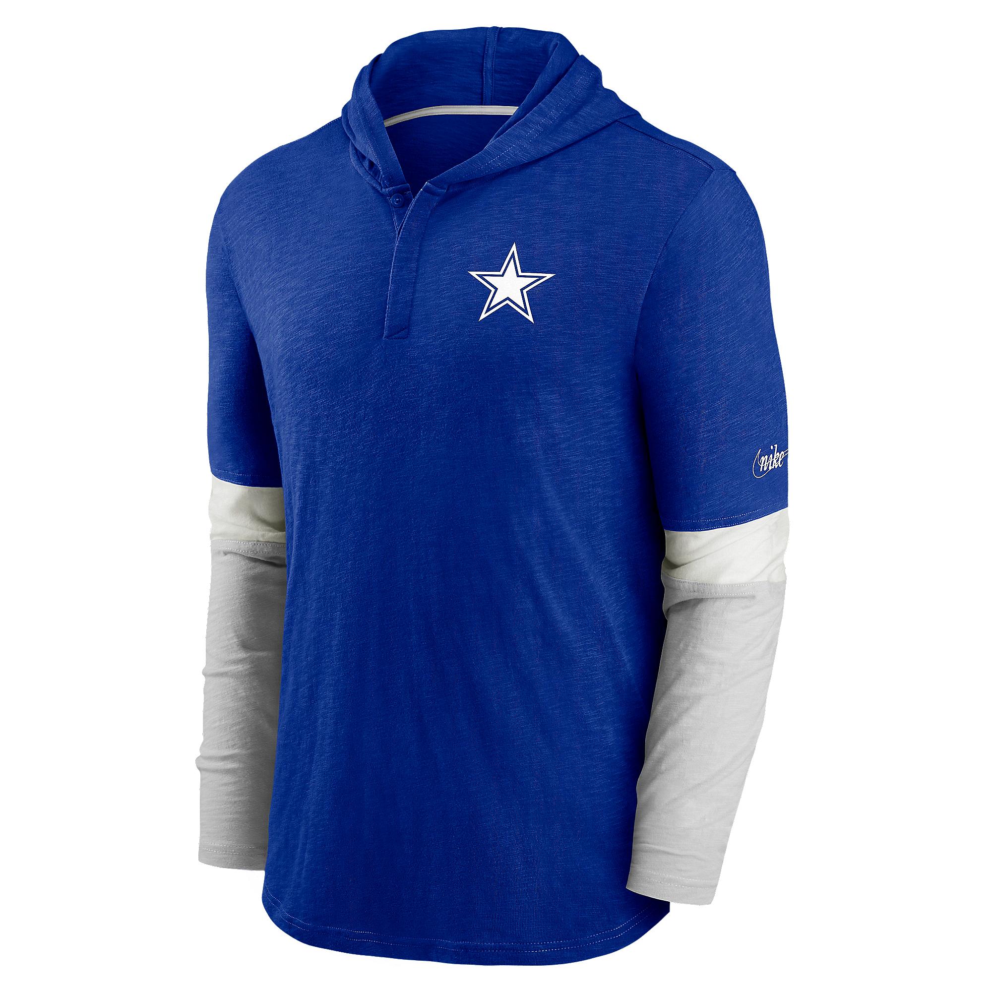 Dallas Cowboys Nike Mens Mascot Historic Long Sleeve Hooded T-Shirt