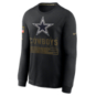 Dallas Cowboys Nike Salute to Service Mens Team Logo Dri-FIT Cotton Long Sleeve T-Shirt