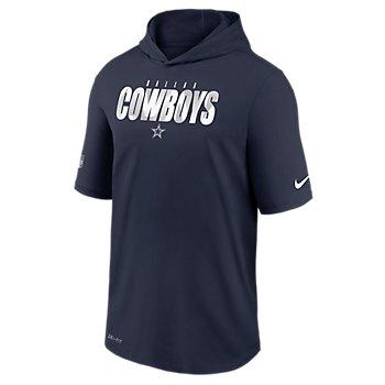 Dallas Cowboys Nike Dri-FIT Cotton Mens Team Logo Short Sleeve Training Hoodie