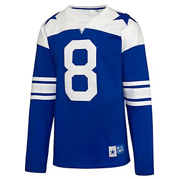 Dallas Cowboys Mens Rivalry Troy Aikman #8 Long Sleeve T-Shirt