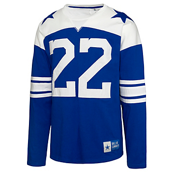 Dallas Cowboys Mens Rivalry Emmitt Smith #22 Long Sleeve T-Shirt