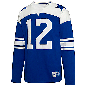 Dallas Cowboys Mens Rivalry Roger Staubach #12 Long Sleeve T-Shirt