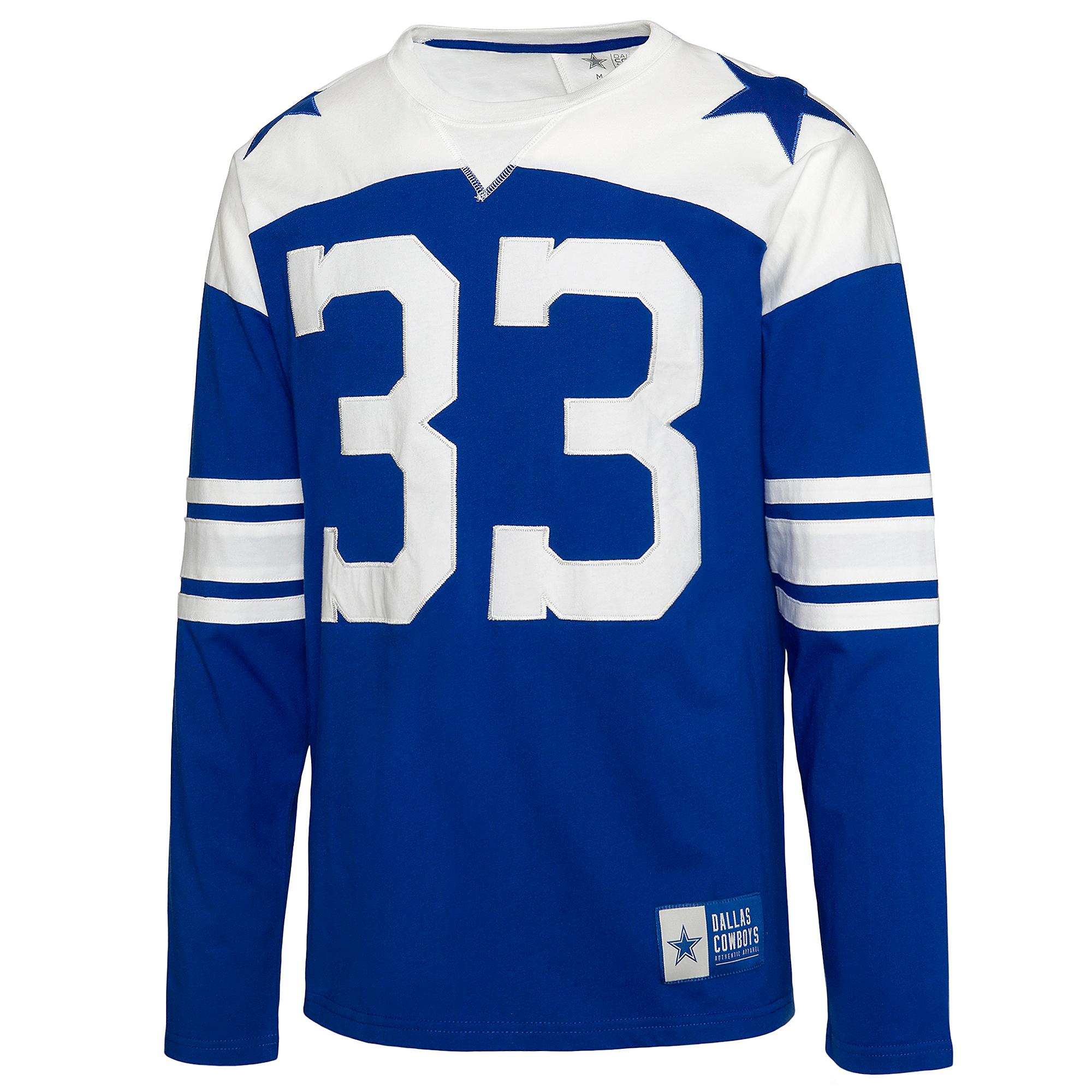 Dallas Cowboys Mens Rivalry Tony Dorsett #33 Long Sleeve T-Shirt