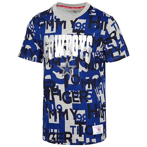 Dallas Cowboys Tommy Hilfiger Mens Printed Short Sleeve T-Shirt