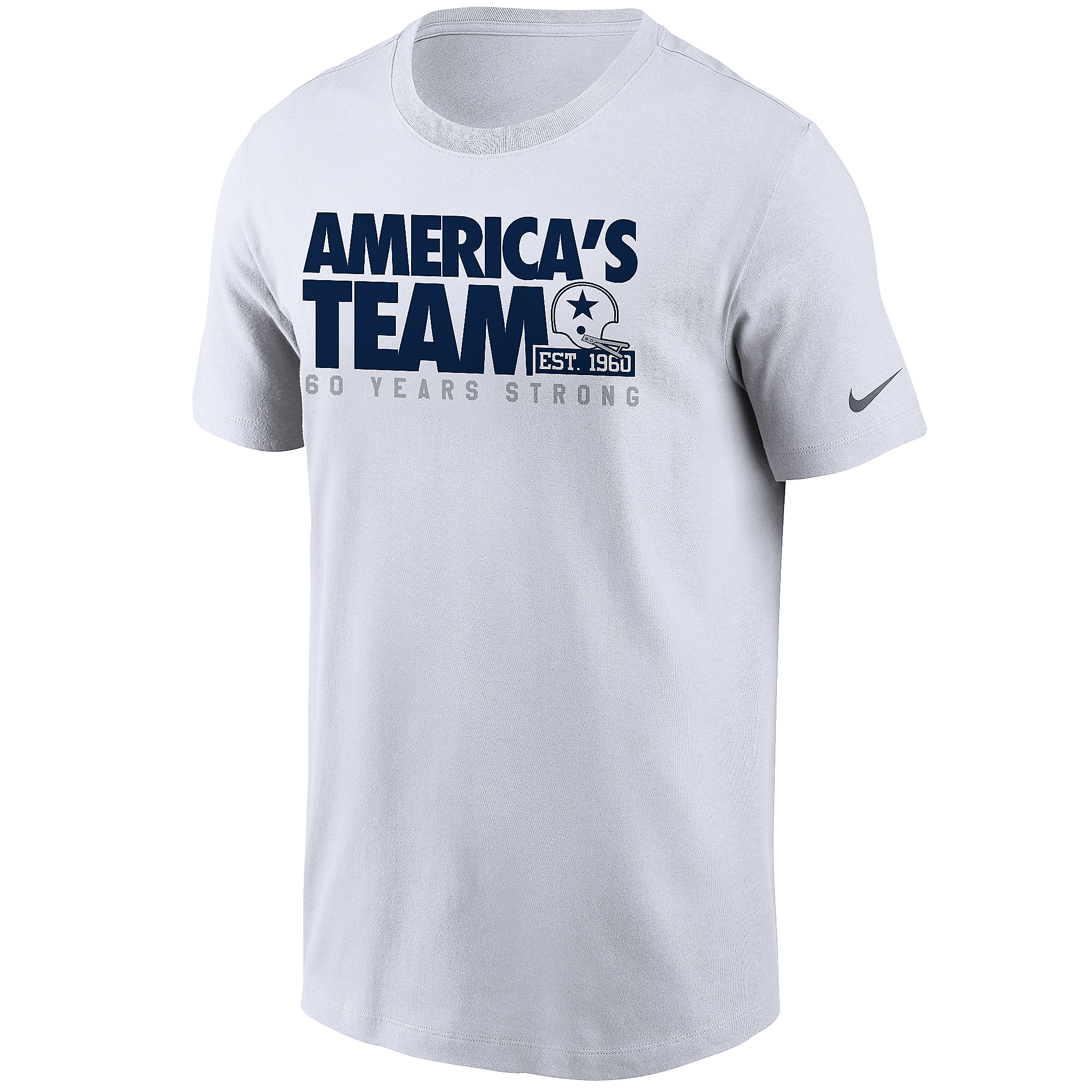 Dallas Cowboys Nike 1960 Mens Strong Short Sleeve T-Shirt