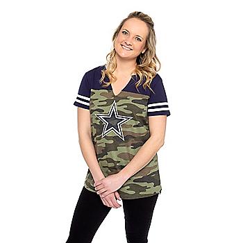 Dallas Cowboys Womens Streamer Short Sleeve T-Shirt