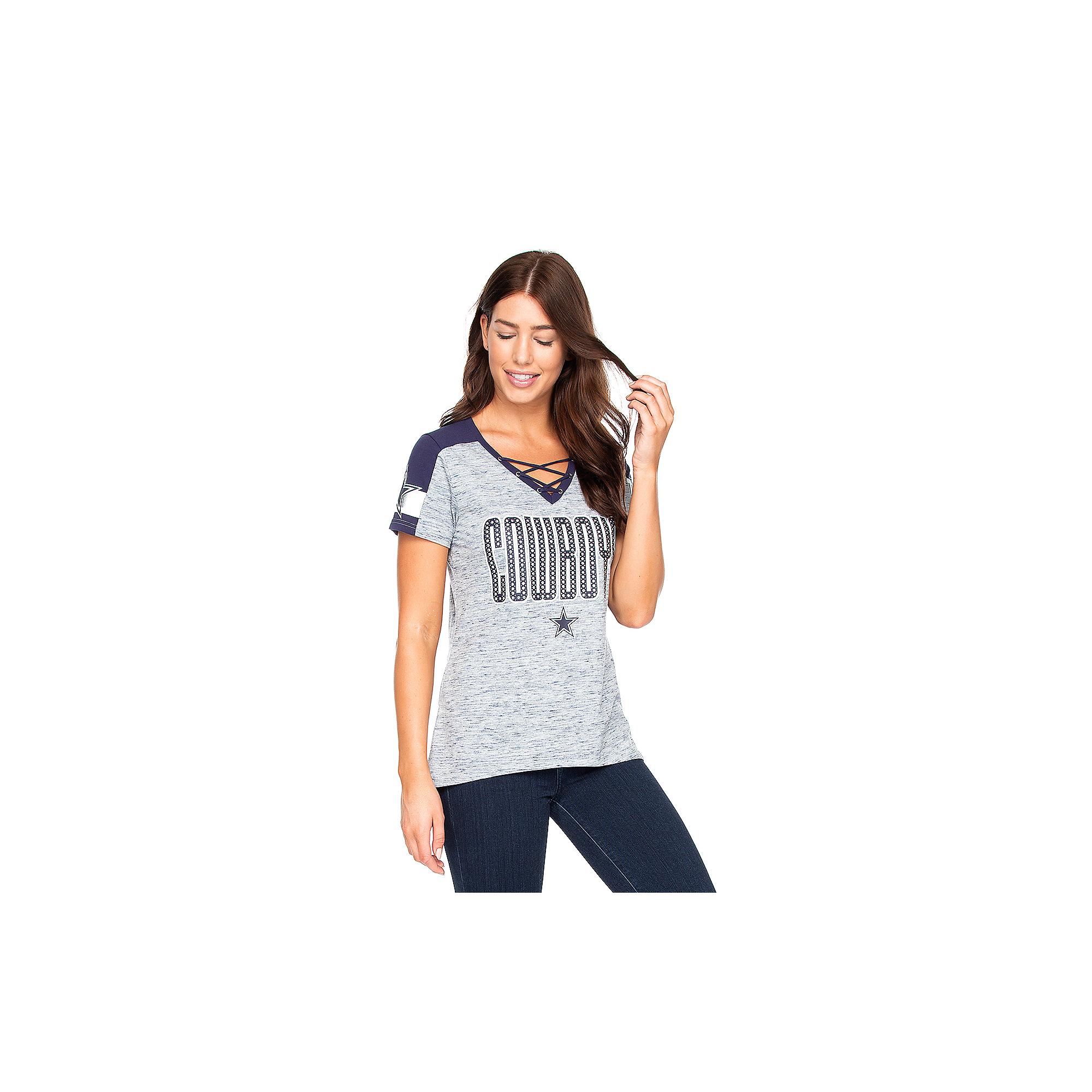 Dallas Cowboys Womens Curetta Short Sleeve T-Shirt