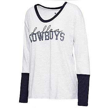 Dallas Cowboys Womens Eleanor Long Sleeve T-Shirt