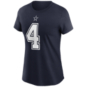 Dallas Cowboys Womens Dak Prescott #4 Nike Name & Number T-Shirt