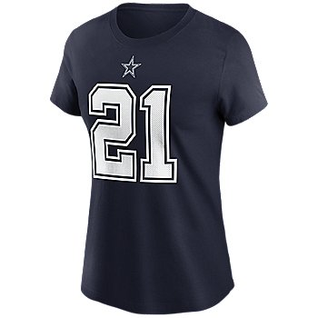 Dallas Cowboys Womens Ezekiel Elliott #21 Nike Name & Number T-Shirt