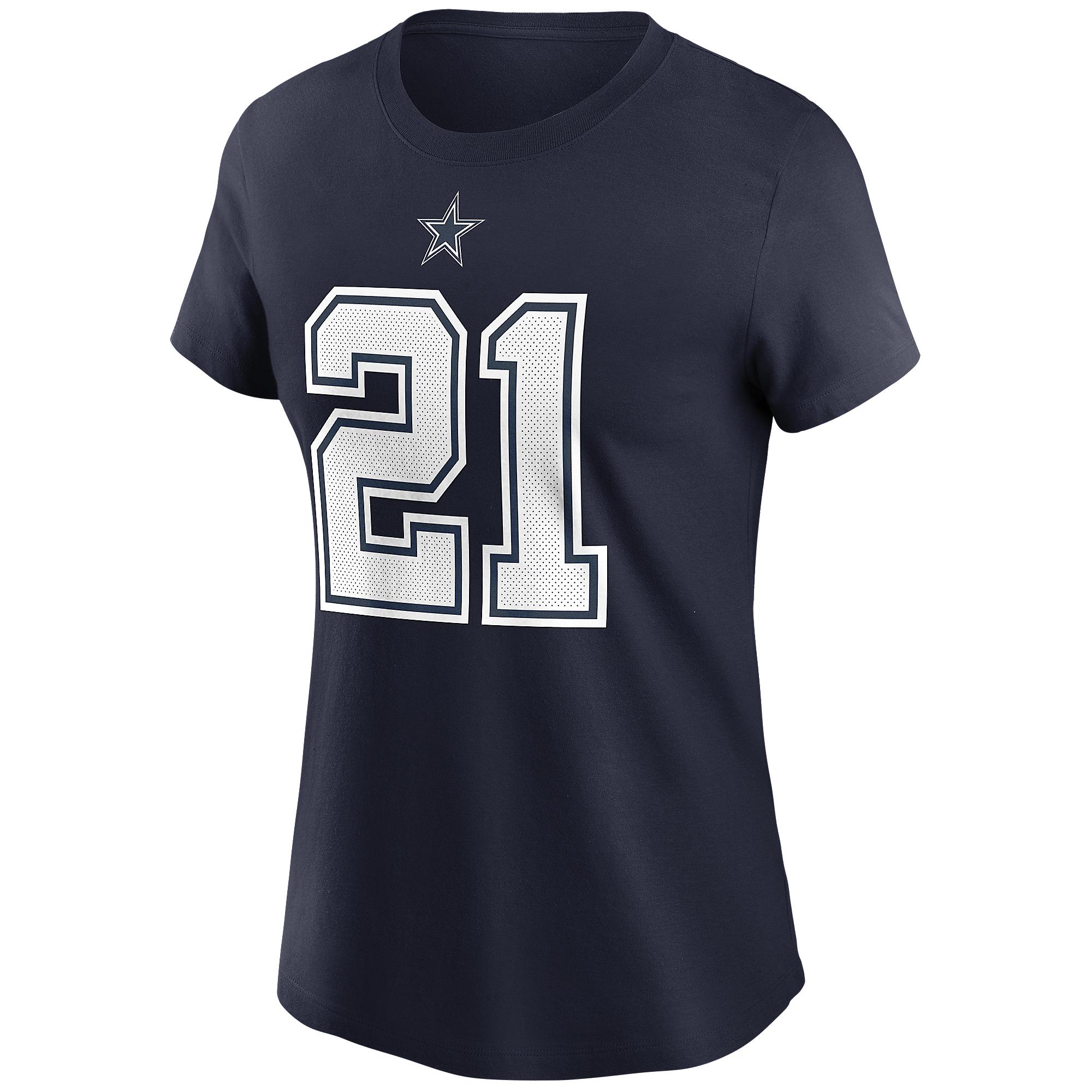 Dallas Cowboys Womens Ezekiel Elliott #21 Nike Name & Number T-Shirt