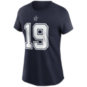 Dallas Cowboys Womens Amari Cooper #19 Nike Name & Number T-Shirt