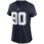 Dallas Cowboys Womens Demarcus Lawrence #90 Nike Name & Number T-Shirt
