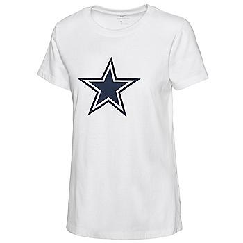 Dallas Cowboys Nike Womens Logo Short Sleeve T-Shirt