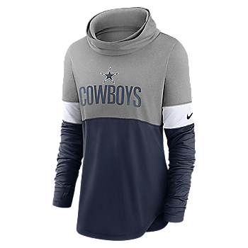 Dallas Cowboys Nike Womens Light Impact Lock Up Cowl Neck Fashion Shirt