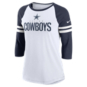 Dallas Cowboys Nike Womens Sleeve Stripe 3/4-Sleeve Raglan T-Shirt