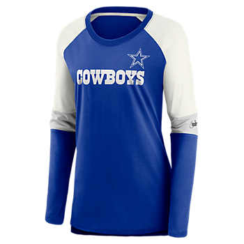 Dallas Cowboys Nike Womens Team Mascot Historic Long Sleeve T-Shirt