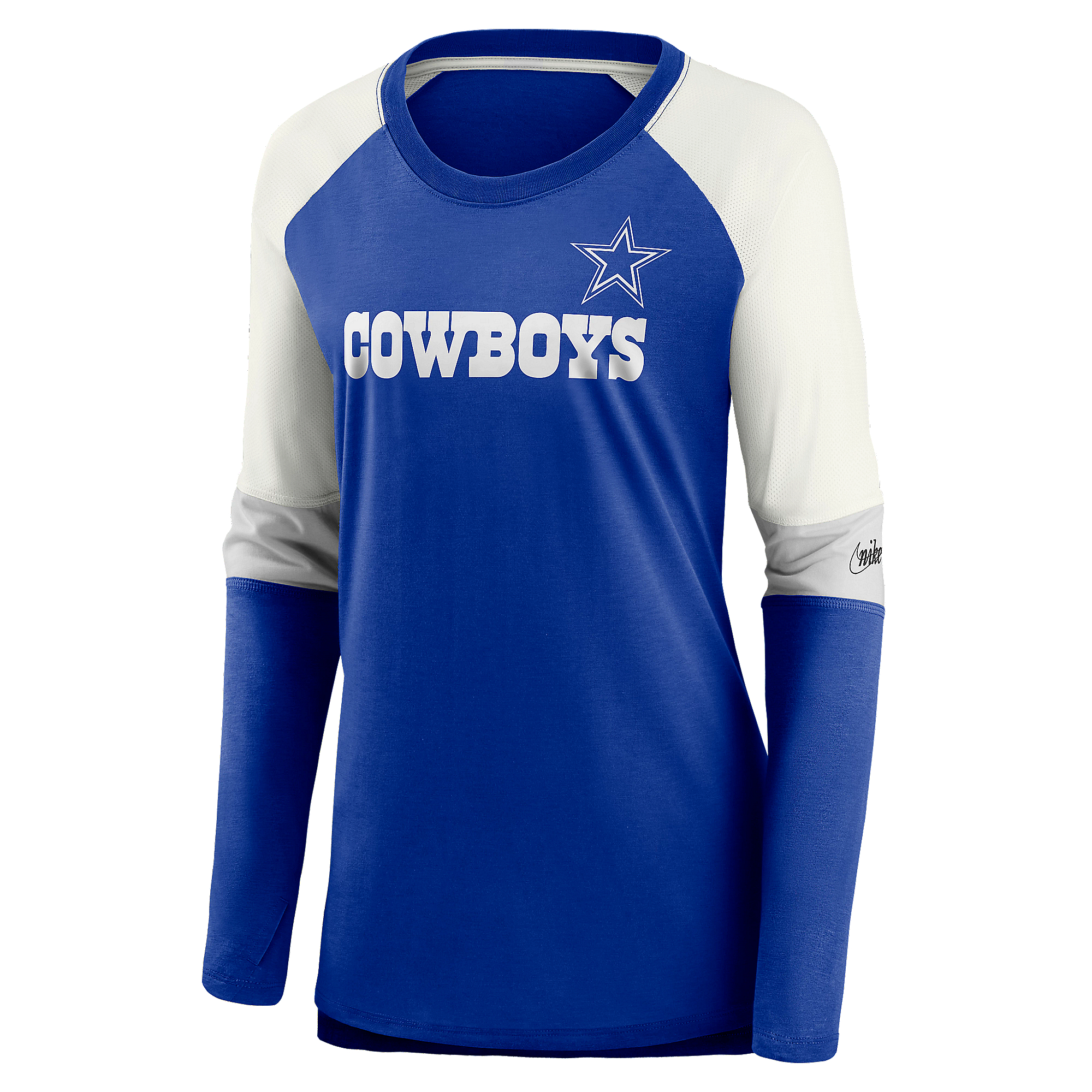 Dallas Cowboys Nike Womens Team Mascot Historic Long Sleeve T-Shirt