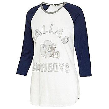 Dallas Cowboys '47 Brand Womens Overturn Frankie Raglan T-Shirt