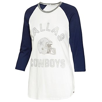 Dallas Cowboys '47 Brand Womens Overturn Frankie Raglan T-Shirt