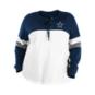 Dallas Cowboys New Era Womens Plus Size Lace Up Blocked Crew T-Shirt