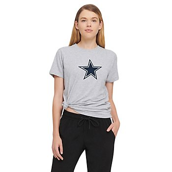 Dallas Cowboys DKNY Sport Womens Ava Knotted Shirt