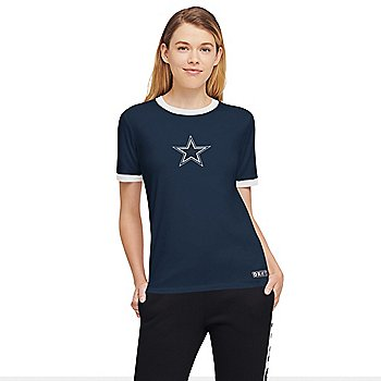 Dallas Cowboys DKNY Sport Womens Charlotte Short Sleeve T-Shirt
