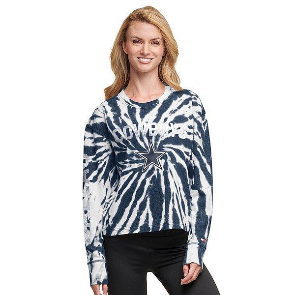 Dallas Cowboys Tommy Hilfiger Womens Tie Dye Crew Neck T-Shirt