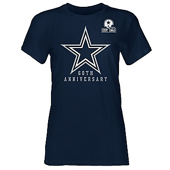 Dallas Cowboys 1960 Womens Premiere Crew Short Sleeve T-Shirt