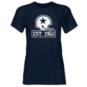 Dallas Cowboys 1960 Womens Silver Logo Crew Short Sleeve T-Shirt
